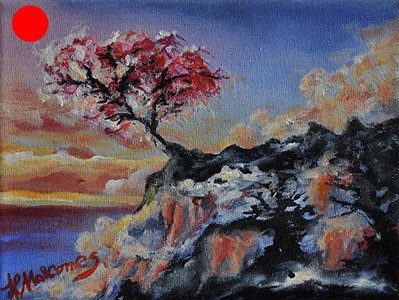 Red Tree 15x20 Acrylpigmente Kopie